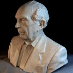 Portrait sculpture created using advanced 3d scanning technology.