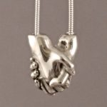 Perfectly miniaturised life cast jewellery